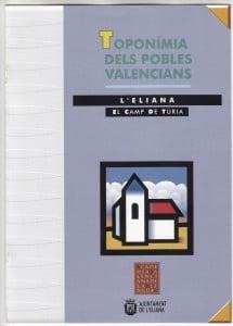 TOPONIMIA DELS POBLES VALENCIANS (1)