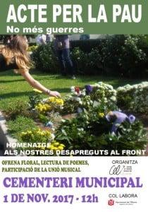 ACTE PER LA PAU 2017 flor