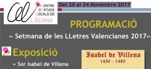 Microsoft Word - PROGRAMACIÓ Setmana Lletres Valencianes 2017.d